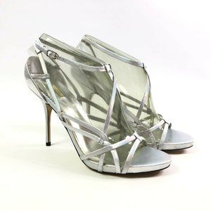 Report Signature Womens Silver Strappy High Heels